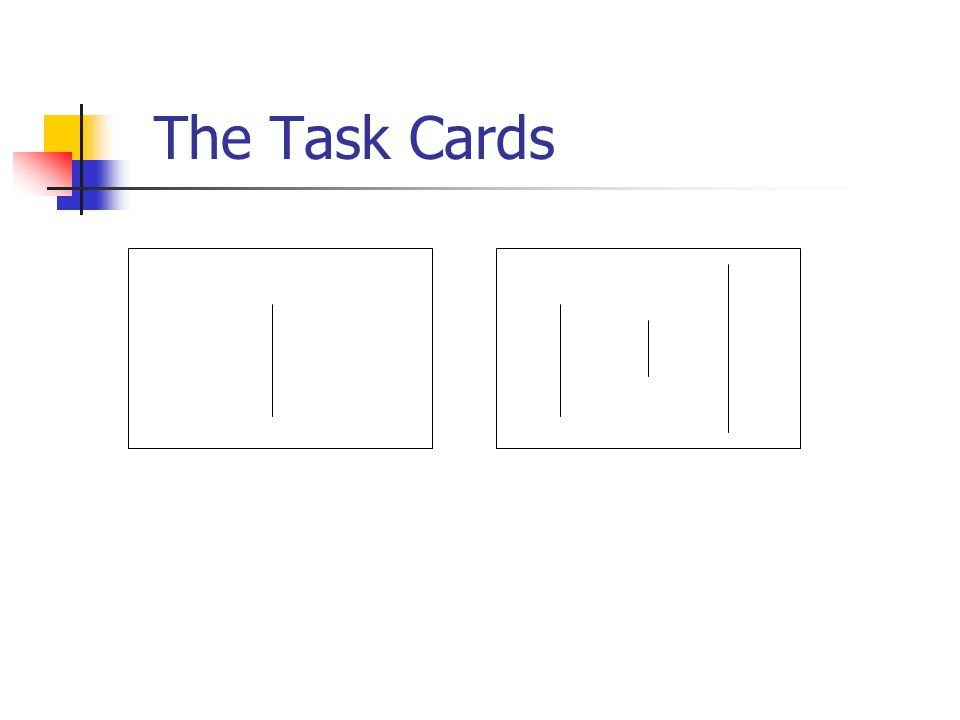 The Task Cards Standard lineComparison lines A, B, and C
