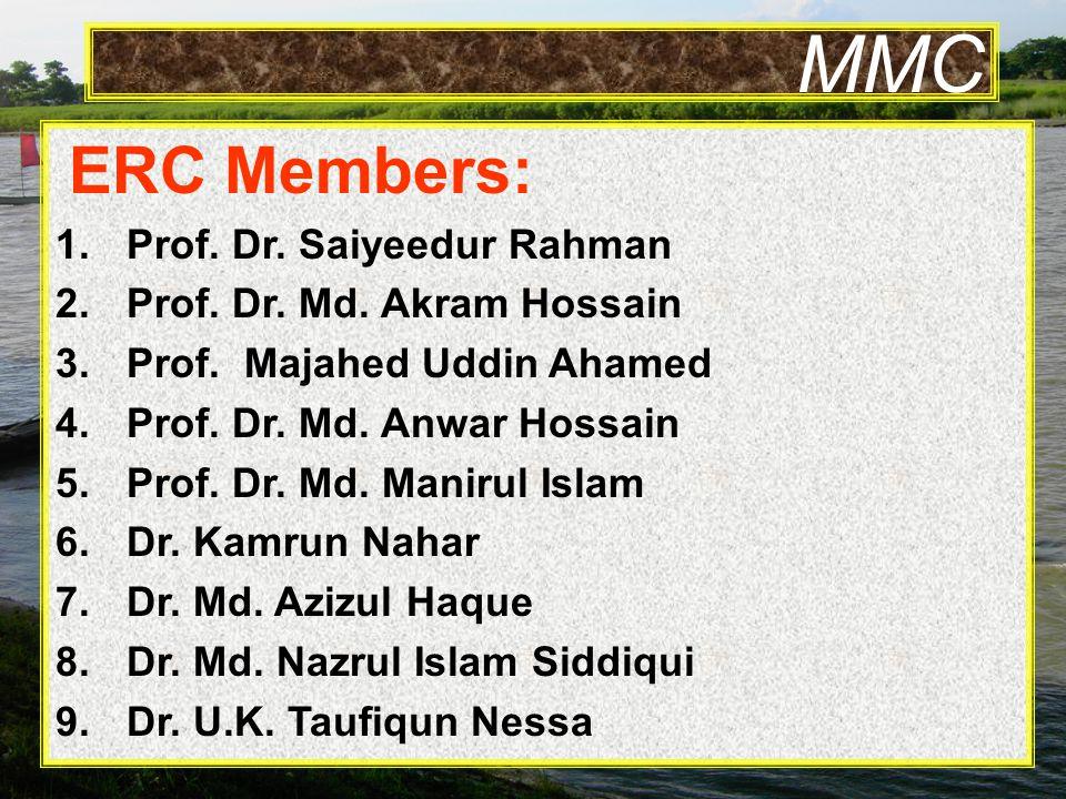 MMC ERC Members: 1.Prof. Dr. Saiyeedur Rahman 2.Prof.