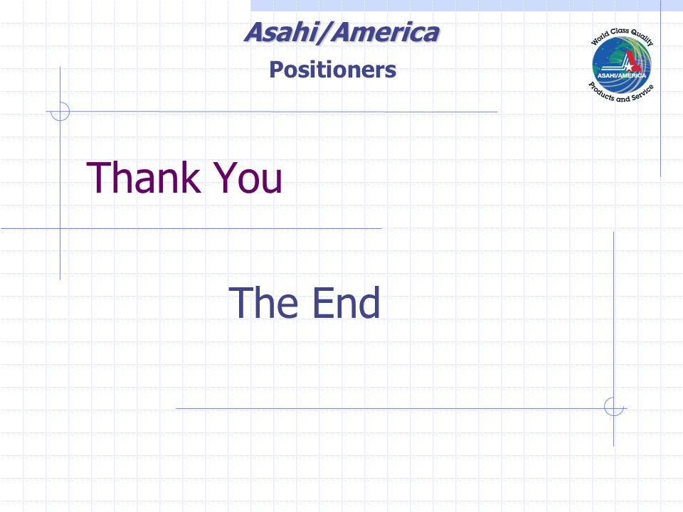 Asahi/America Thank You The End