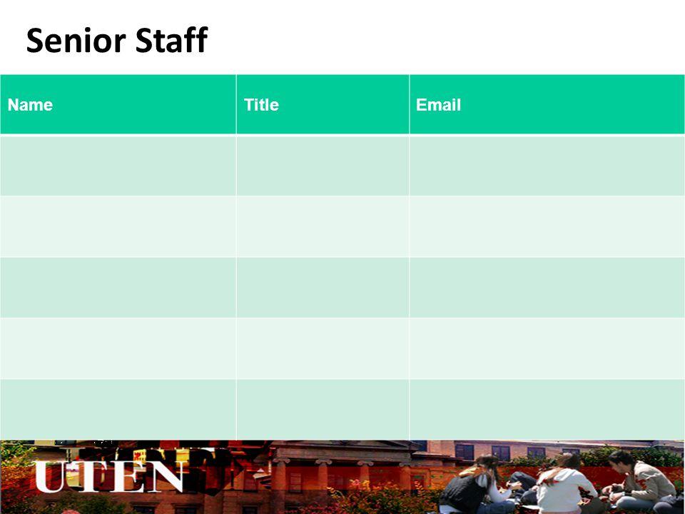 Senior Staff NameTitleEmail