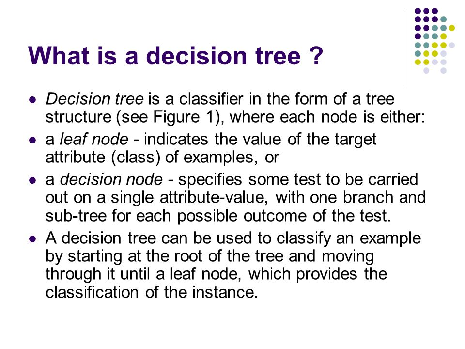 What is a decision tree .