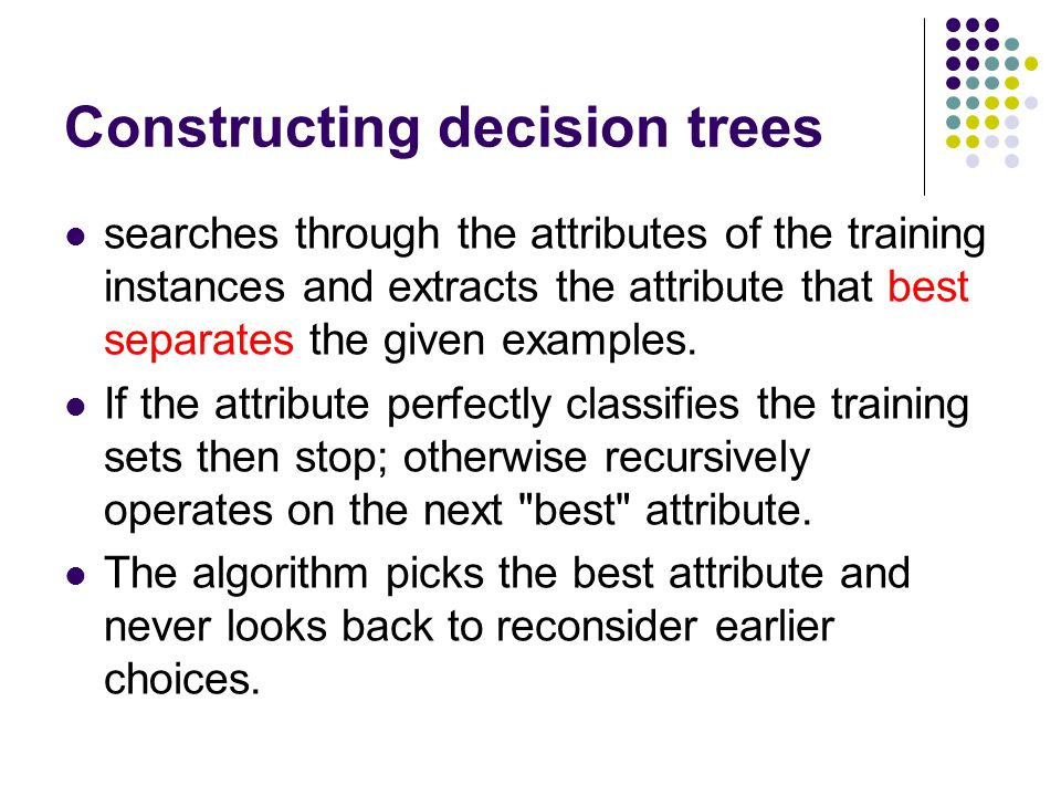 The weaknesses of decision trees Decision trees are less appropriate for estimation tasks where the goal is to predict the value of a continuous attribute.