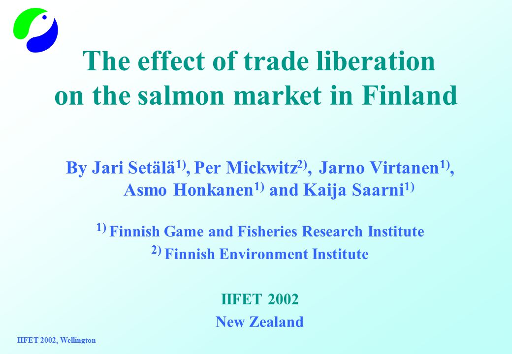 Aim of the study Is to find out if the prices of imported salmon and domestic wild salmon and farmed salmon trout are co-integrated, i.e.