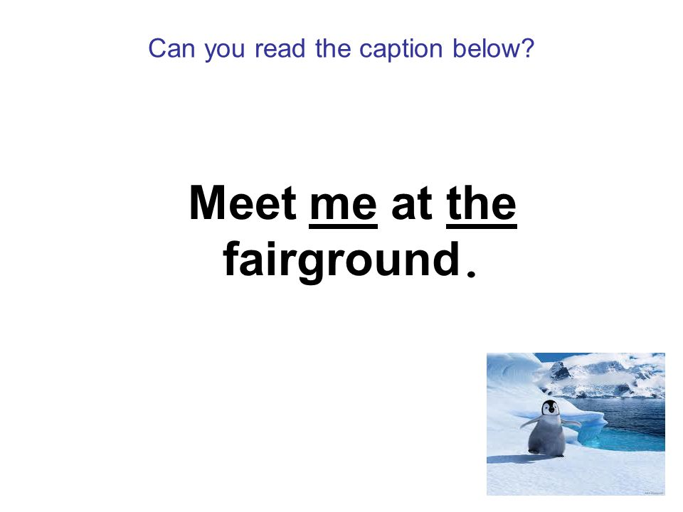Can you read the caption below Meet me at the fairground.