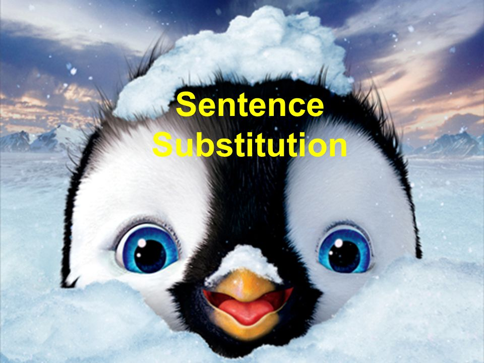 Sentence Substitution
