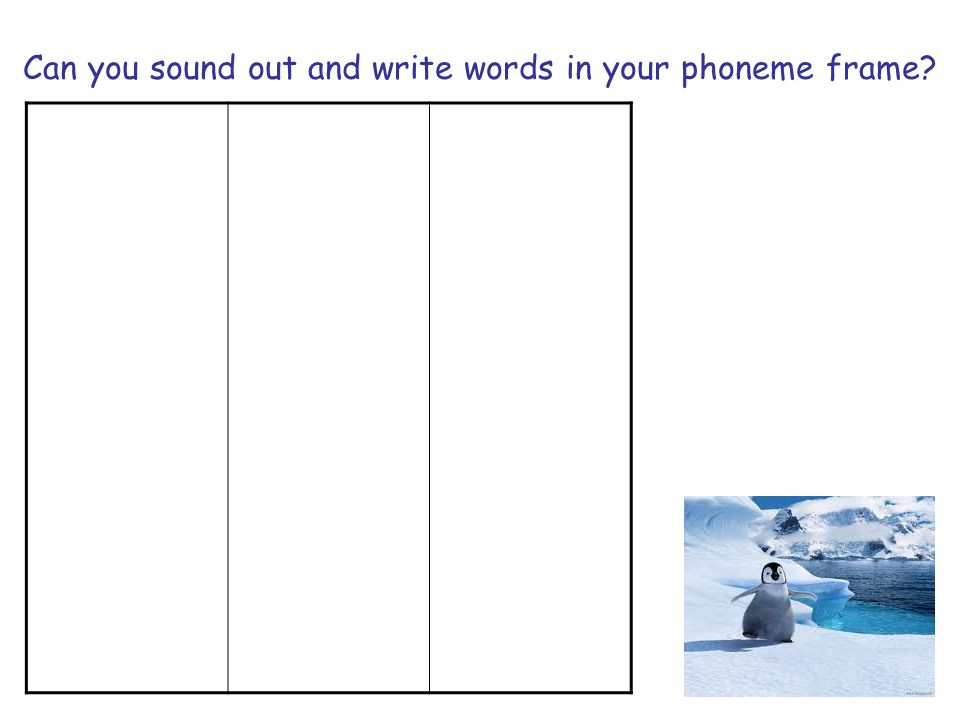 Can you sound out and write words in your phoneme frame?
