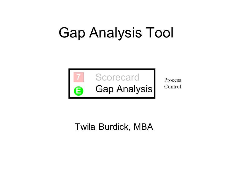 Gap Analysis Tool Twila Burdick, MBA