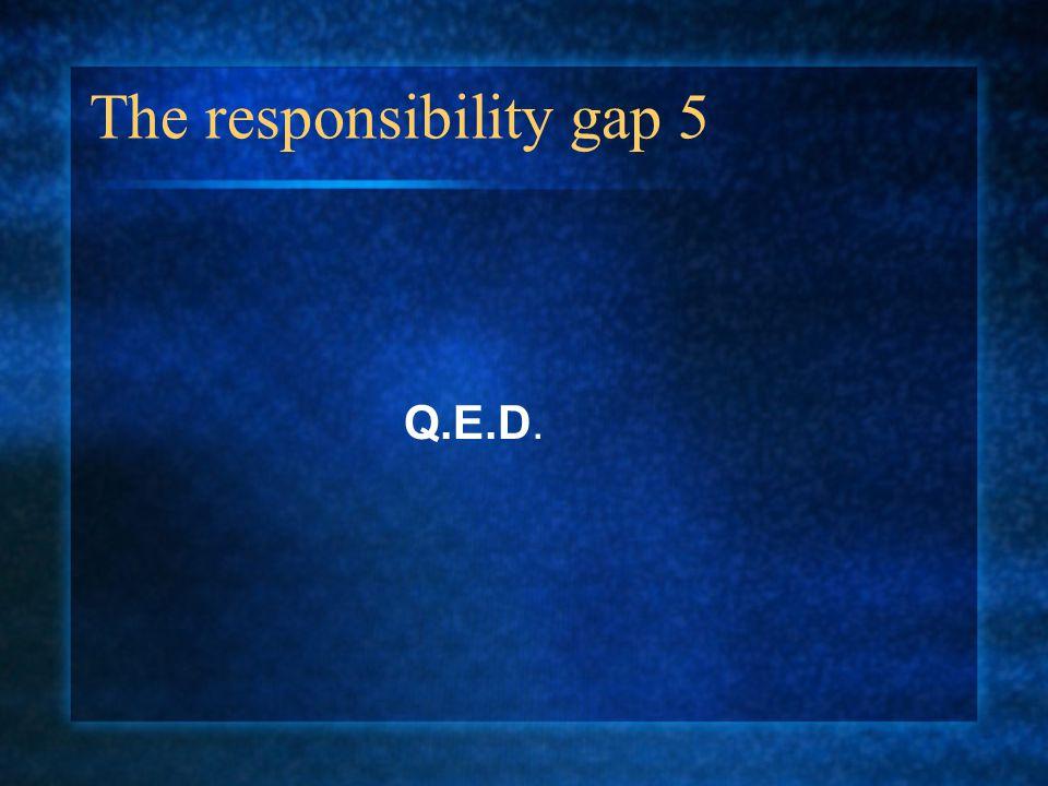 The responsibility gap 5 Q.E.D.