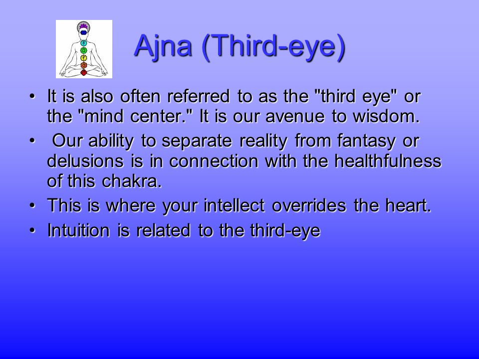 Ajna (Third-eye) It is also often referred to as the