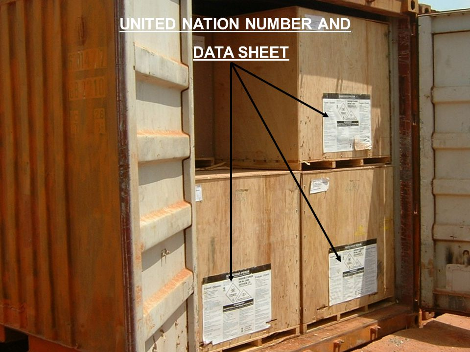 4 UNITED NATION NUMBER AND DATA SHEET