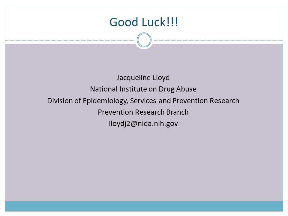 Good Luck!!.