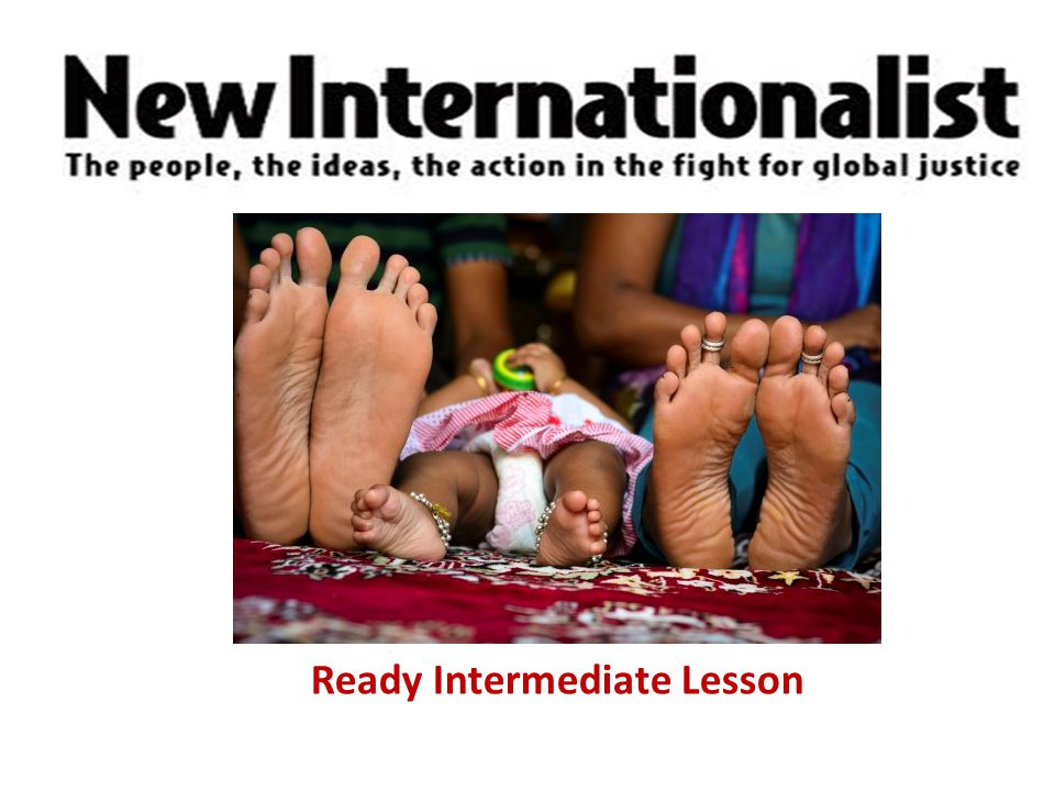 New Internationalist Easier English Ready Intermediate Lesson