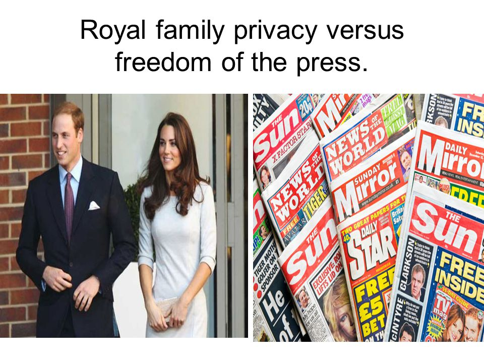 Royal family privacy versus freedom of the press.