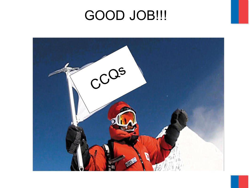 GOOD JOB!!! CCQs