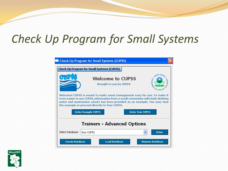 Check Up Program for Small Systems