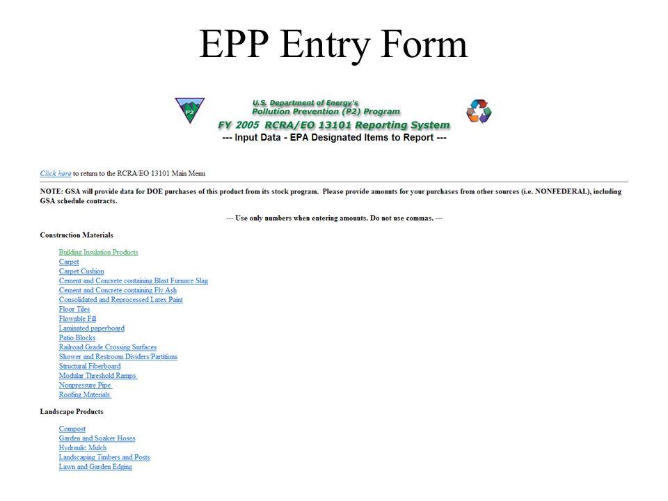 6 EPP Entry Form