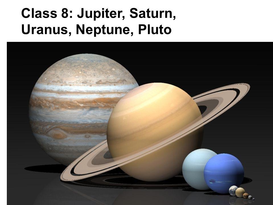 Class 8: Jupiter, Saturn, Uranus, Neptune, Pluto
