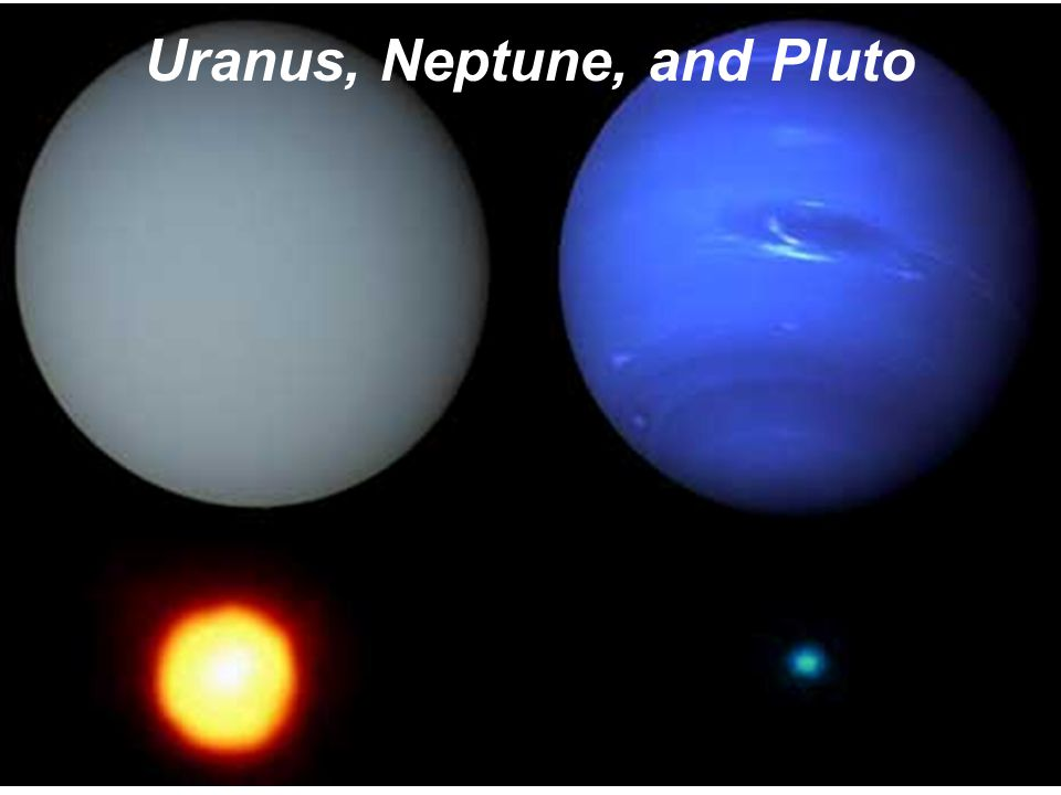 Uranus, Neptune, and Pluto