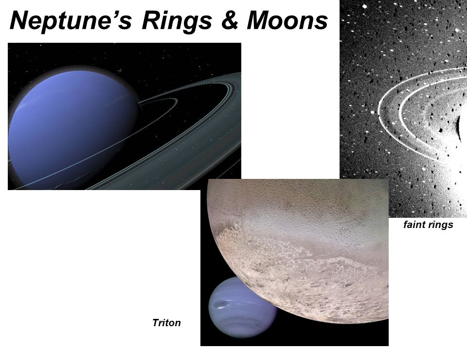 Neptune's Rings & Moons faint rings Triton