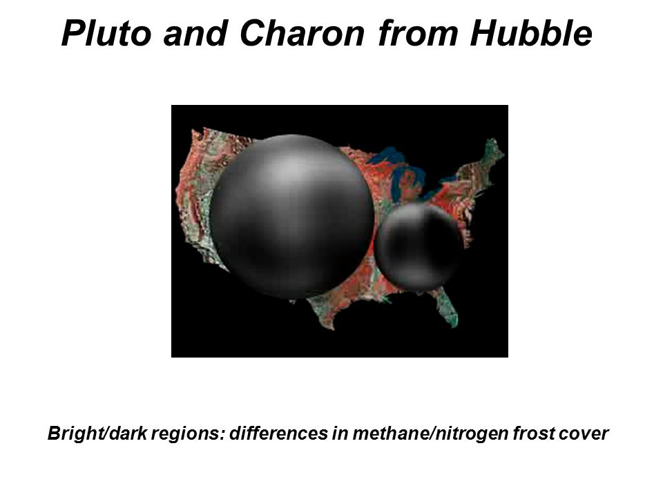 Pluto and Charon from Hubble Bright/dark regions: differences in methane/nitrogen frost cover