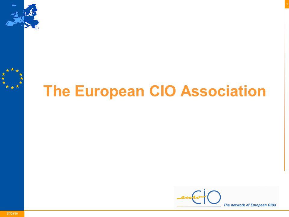 1 01/05/2015 07/29/10 The European CIO Association