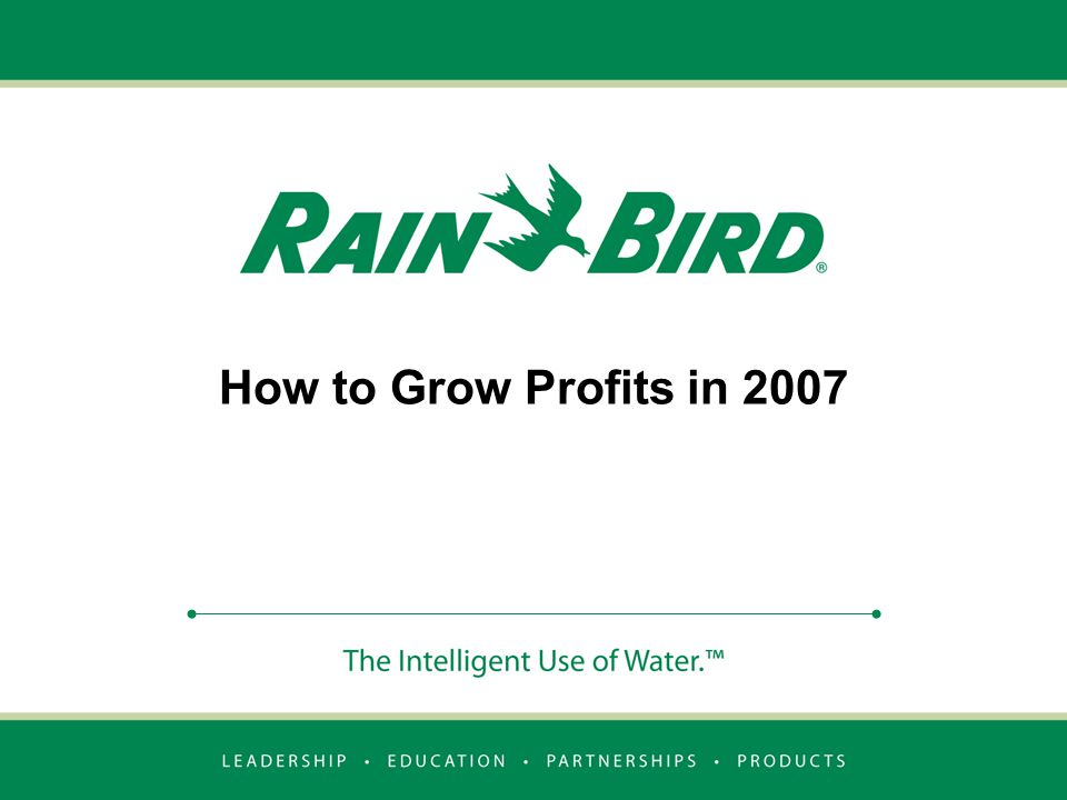 How to Grow Profits in 2007