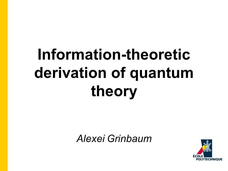 Thesis Quantum theory is a general theory of information constrained by several important information-theoretic principles.