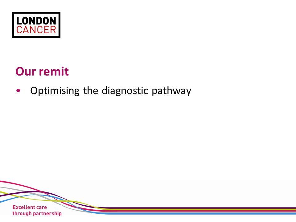 Our remit Optimising the diagnostic pathway
