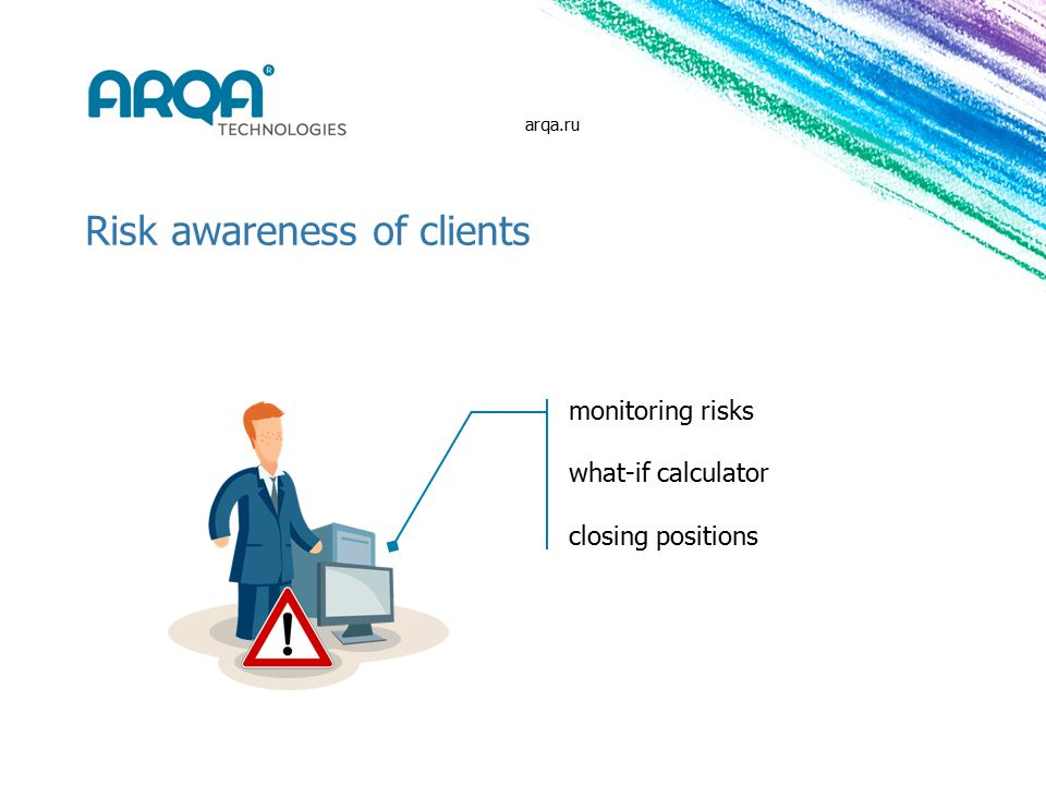 Risk awareness of clients monitoring risks what-if calculator closing positions arqa.ru