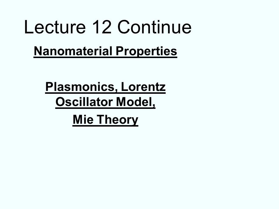 acceleration displacement Harmonic Oscillator Fastest way to derive plasmon frequency: Use Newtons equation electron mass Question 1: The rigid displacement of the electrons induces a dipole moment and an electric field opposing the displacement.