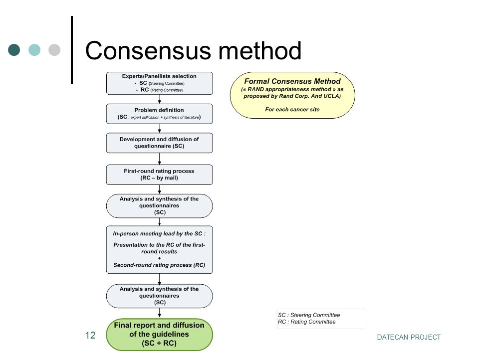 DATECAN PROJECT 12 Consensus method