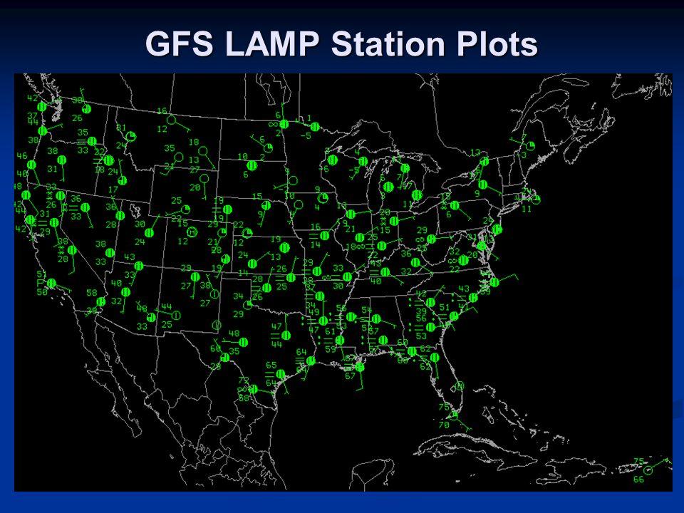 GFS LAMP Station Plots