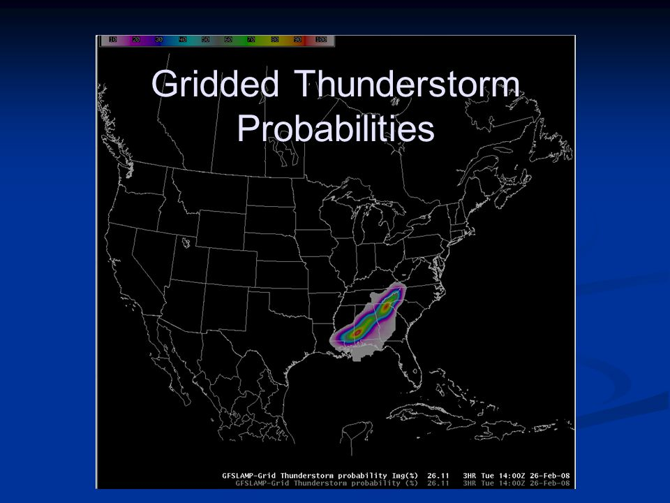 Gridded Thunderstorm Probabilities