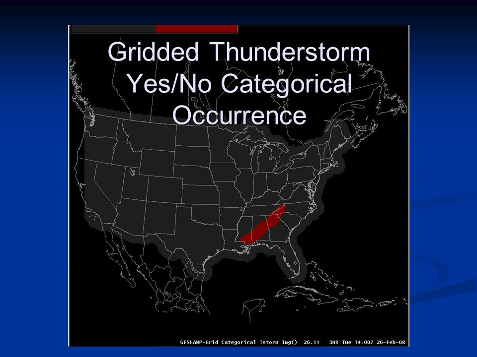 Gridded Thunderstorm Yes/No Categorical Occurrence