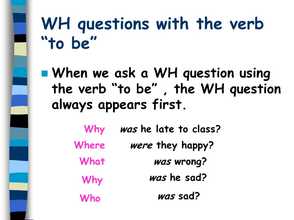 """Yes/No questions with """"to be"""" Was / were + subject"""