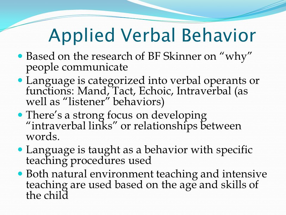 TEACCH The long-term goals of the TEACCH approach are both skill development and fulfillment of fundamental human needs such as dignity, engagement in productive and personally meaningful activities, and feelings of security, self-efficacy, and self- confidence.