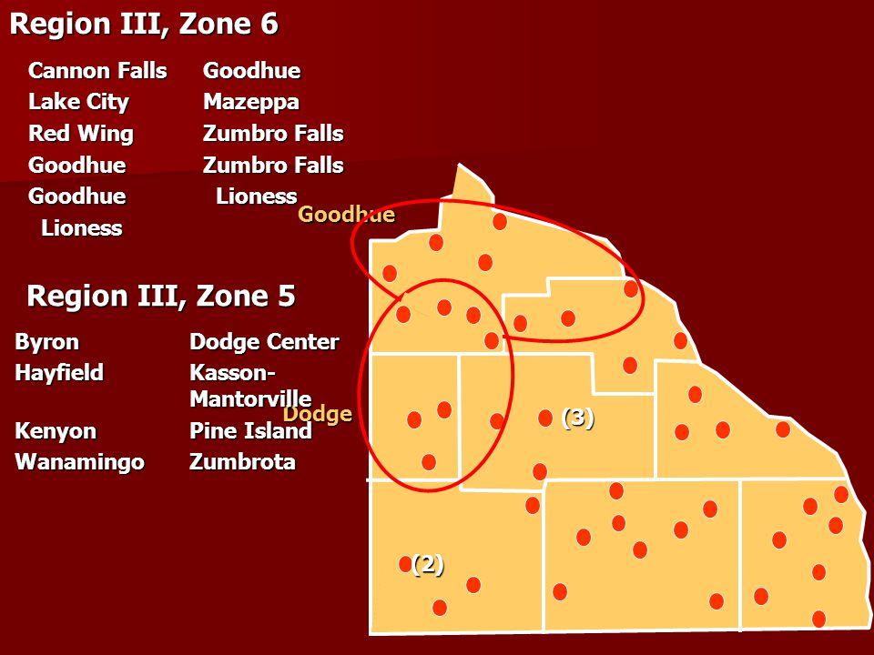 Goodhue Dodge (3) (2) Region III, Zone 6 Cannon FallsGoodhue Lake CityMazeppa Red WingZumbro Falls Goodhue Zumbro Falls Goodhue Lioness Lioness Liones