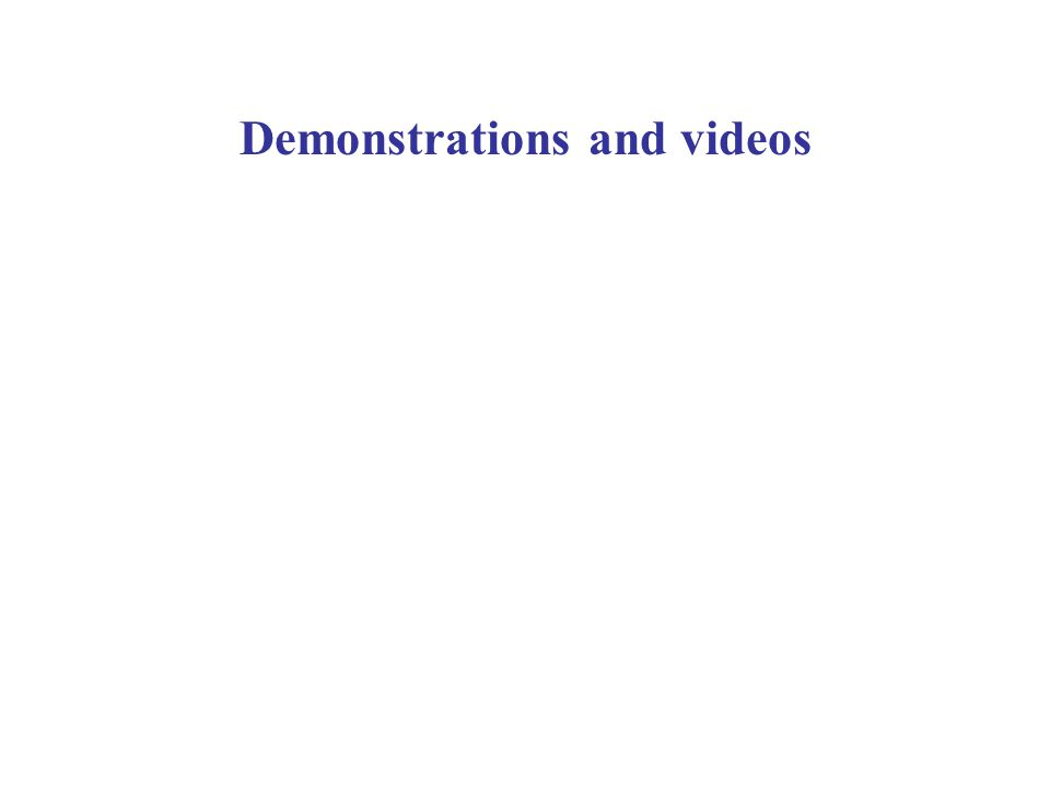 Demonstrations and videos