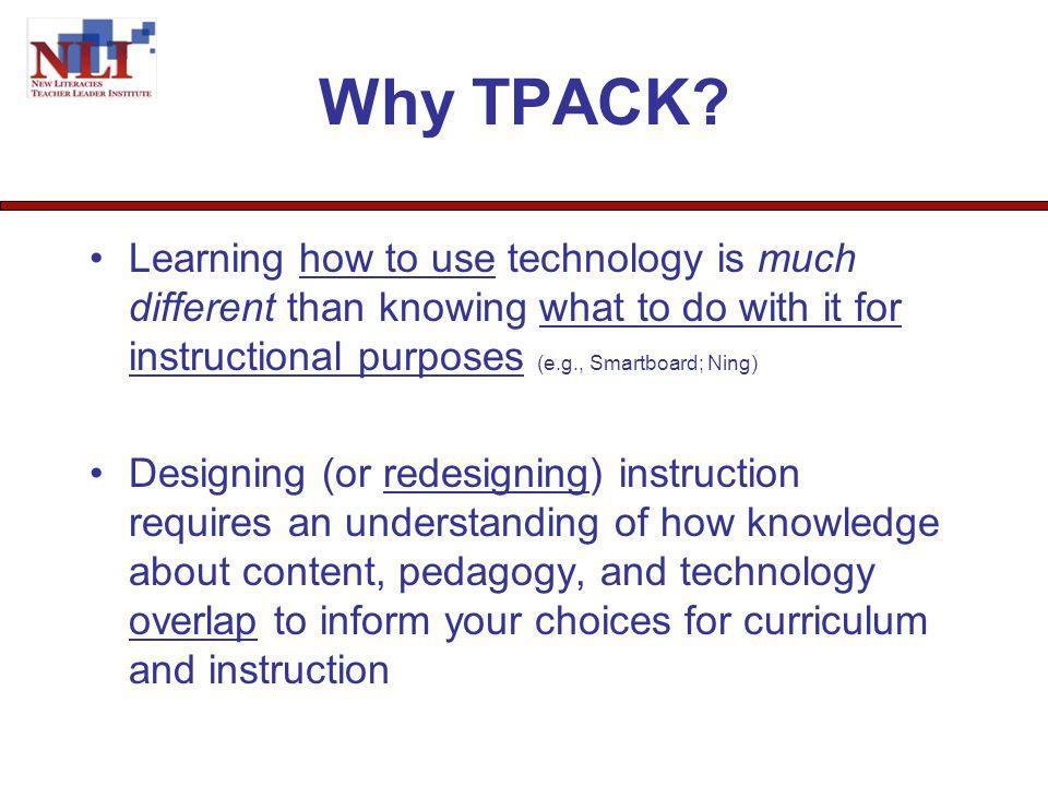 http://tpack.org/ What is TPACK? Mishra & Koehler (2006)