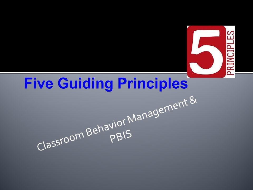 Classroom Behavior Management & PBIS