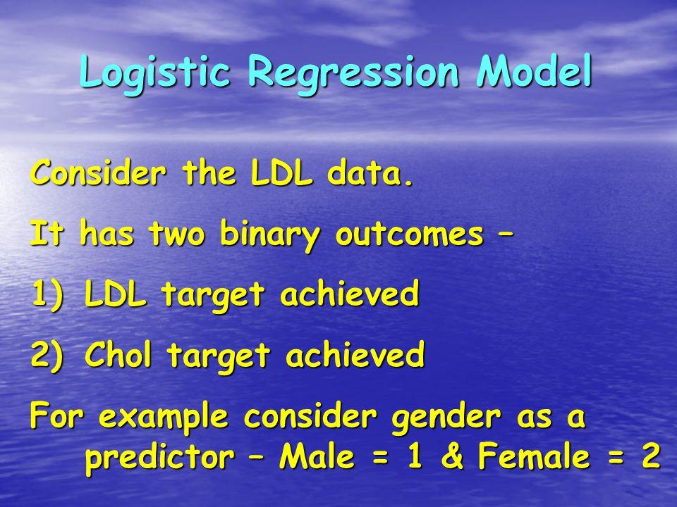 Regression / Binary logistic….. Choose Categorical