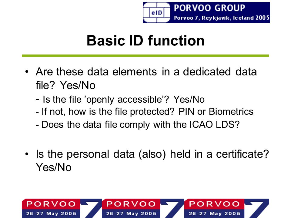 Basic ID function Are these data elements in a dedicated data file.