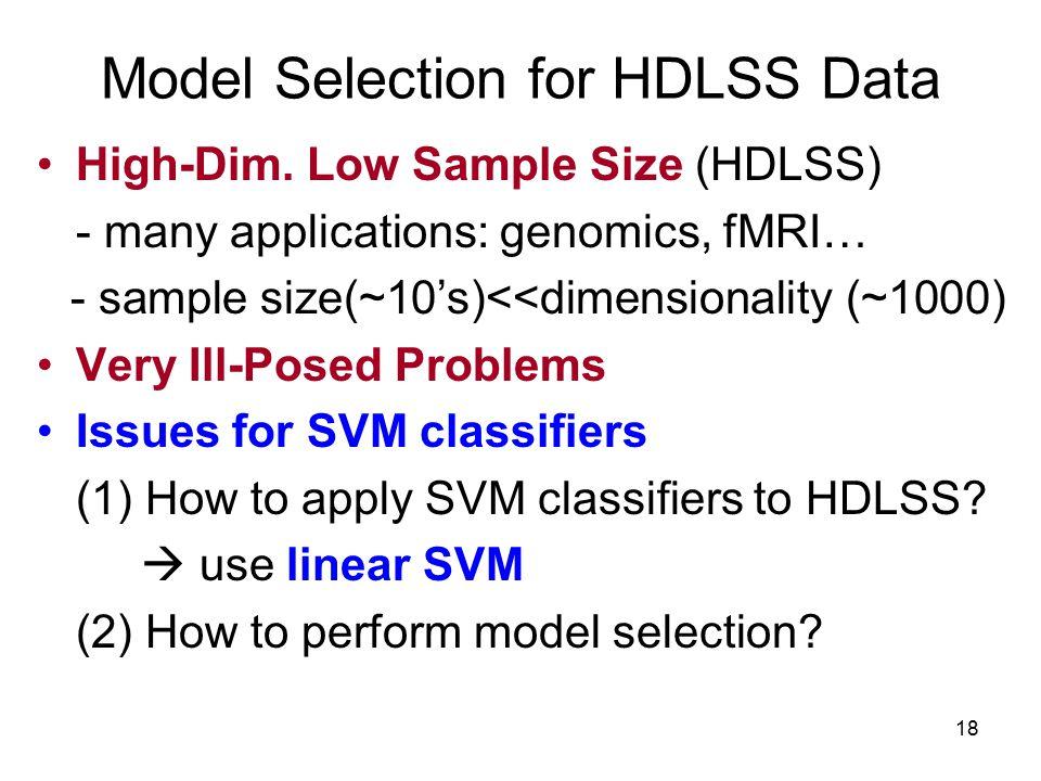 18 Model Selection for HDLSS Data High-Dim.
