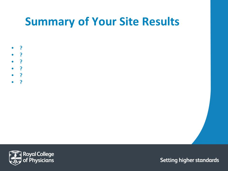 Summary of Your Site Results ?