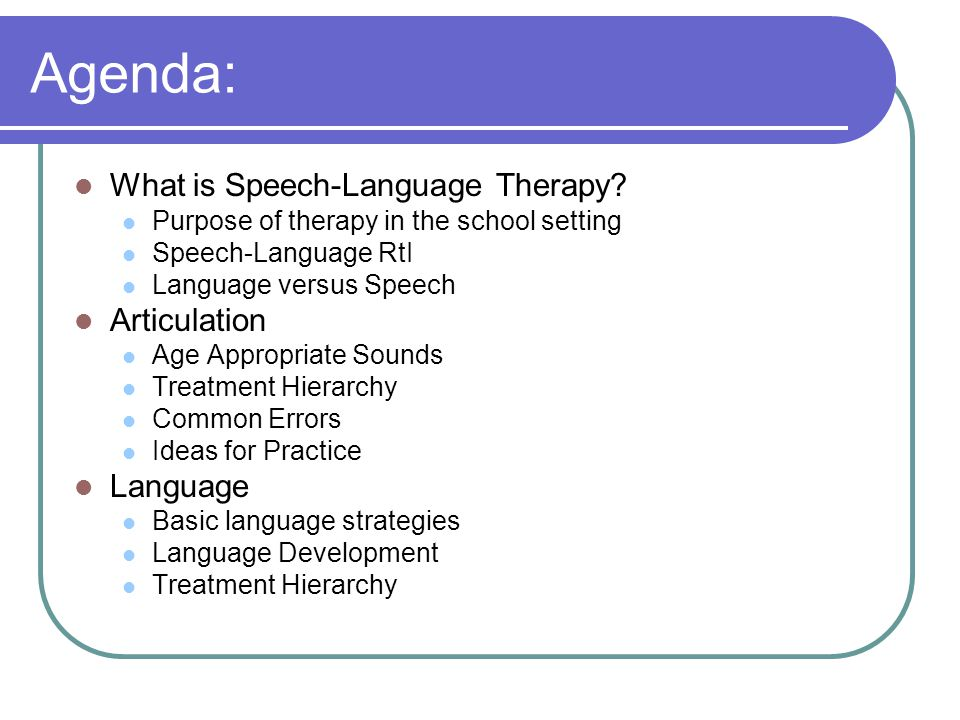 What is Speech-Language Therapy.
