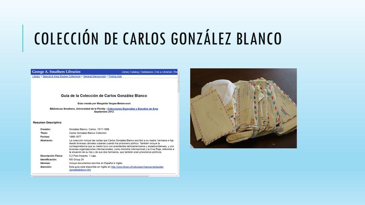 COLECCIÓN DE CARLOS GONZÁLEZ BLANCO