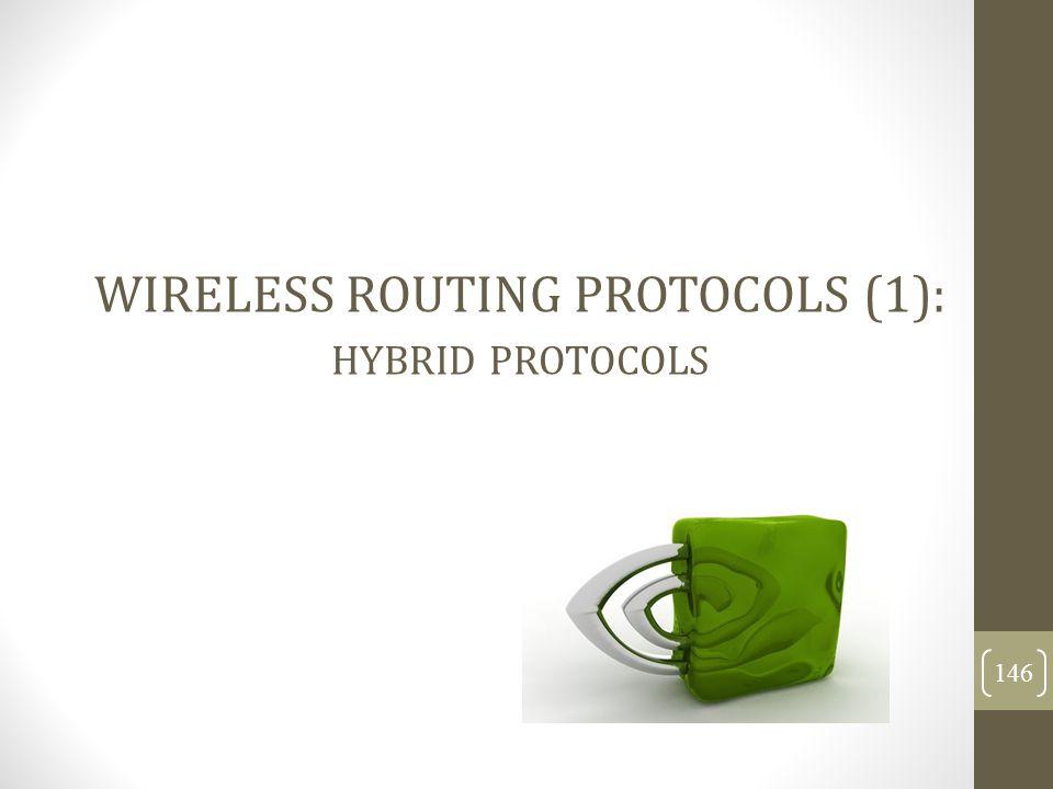 WIRELESS ROUTING PROTOCOLS (1): HYBRID PROTOCOLS 146