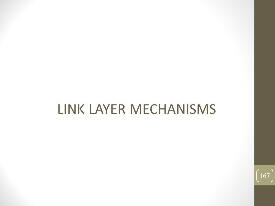 LINK LAYER MECHANISMS 167