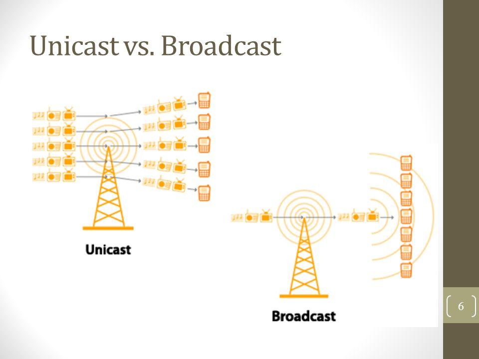 Unicast vs. Broadcast 6