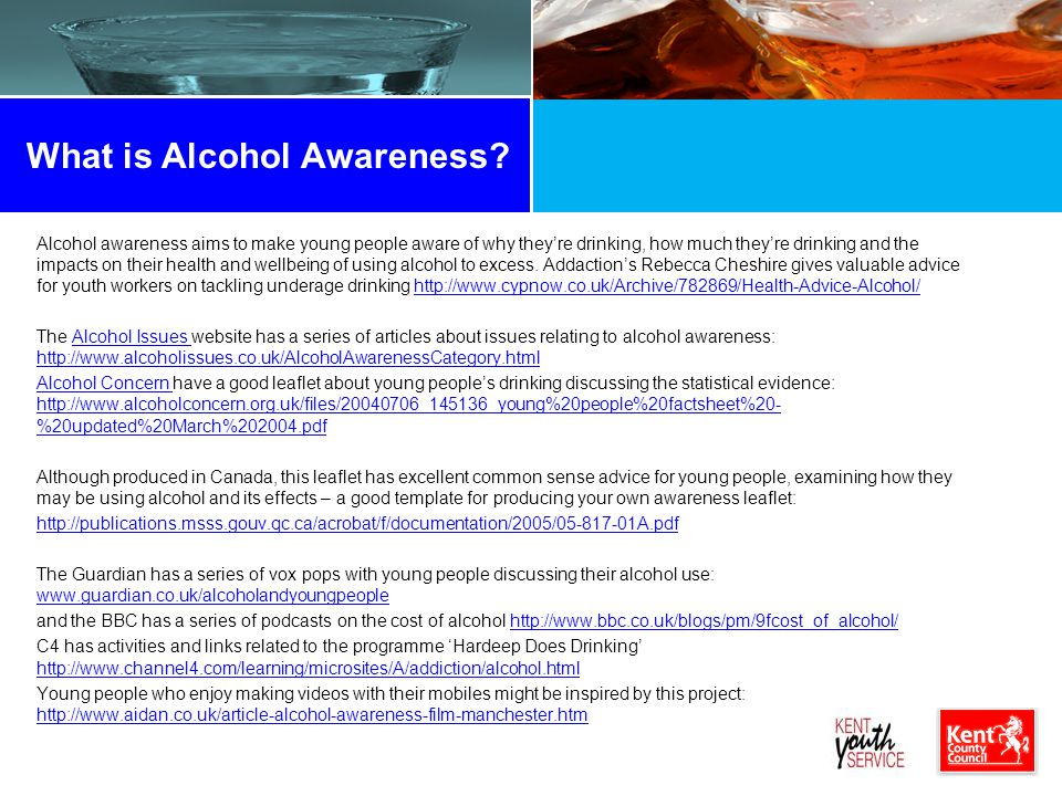What is Alcohol Awareness.